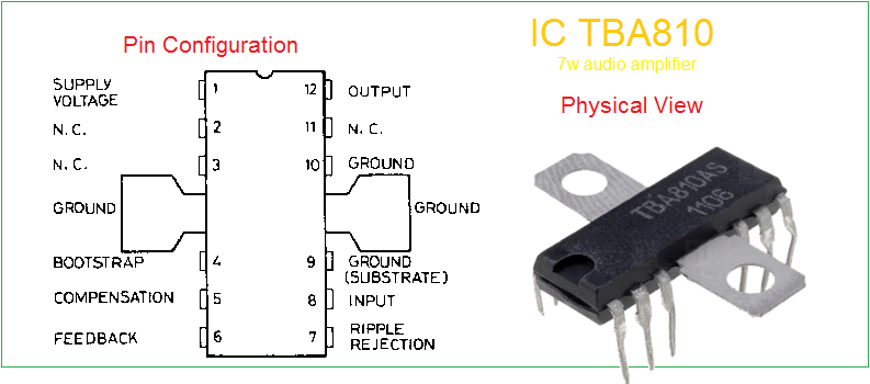 Amplifier circuit diagram ic 810 pin details ccuart Choice Image