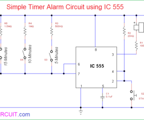 Simple Timer Alarm Circuit using IC 555