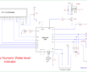 Arduino Numeric Water level Indicator and Controller