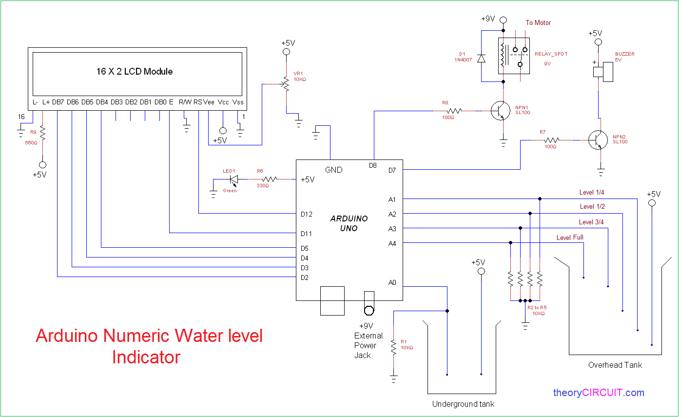 Circuit Shows About Water Level Detector Circuit Diagram This ... on