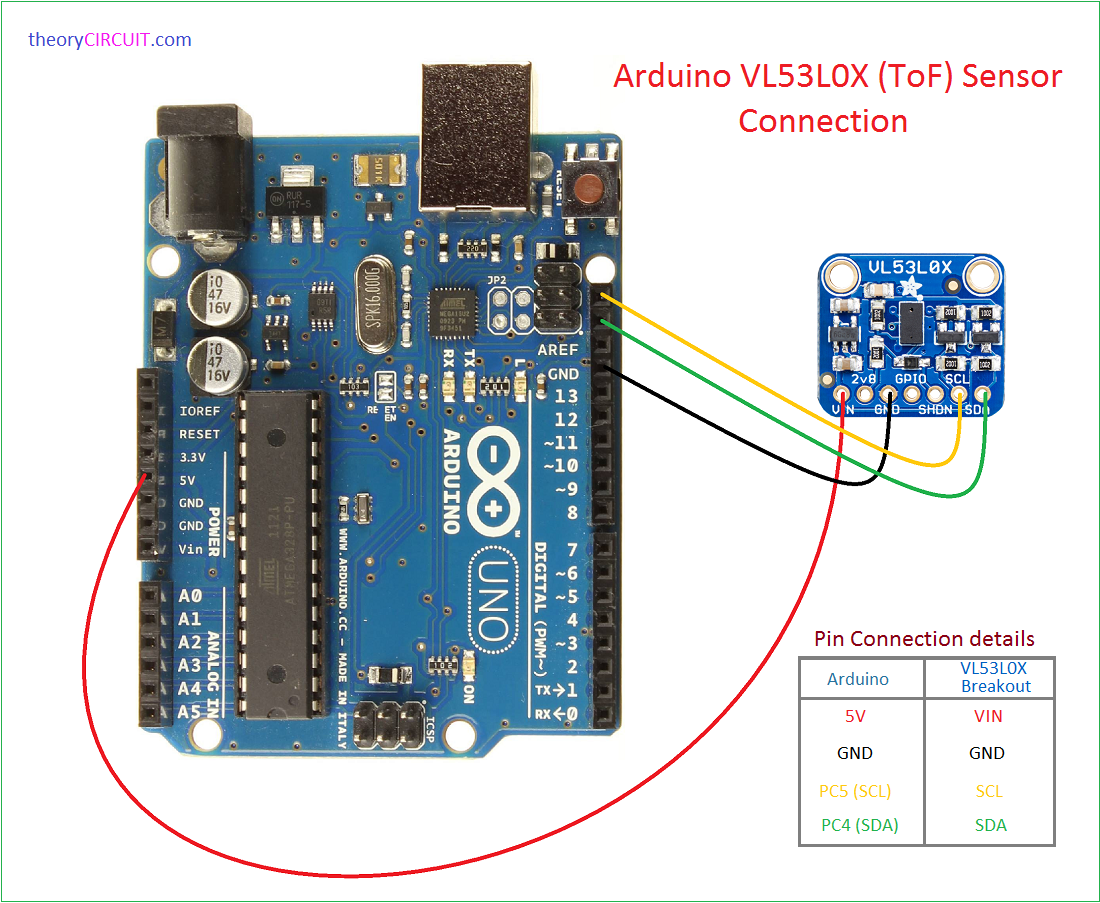 vl53l0x arduino interface. Black Bedroom Furniture Sets. Home Design Ideas