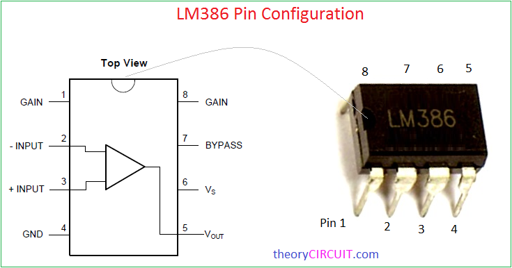 LM386 Acoustic Audio Amplifier Circuit