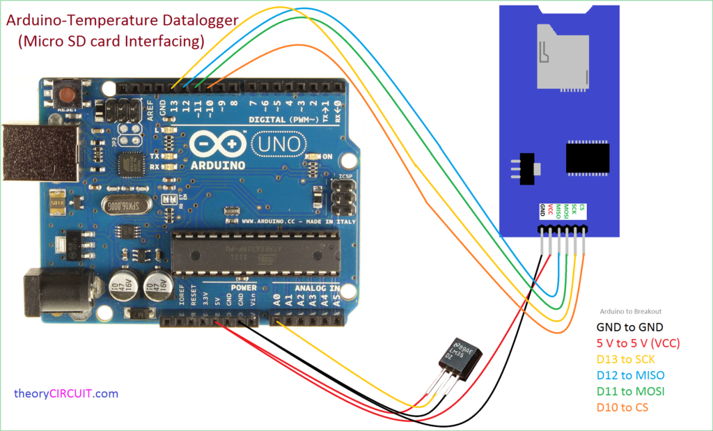 Arduino micro sd card data logger