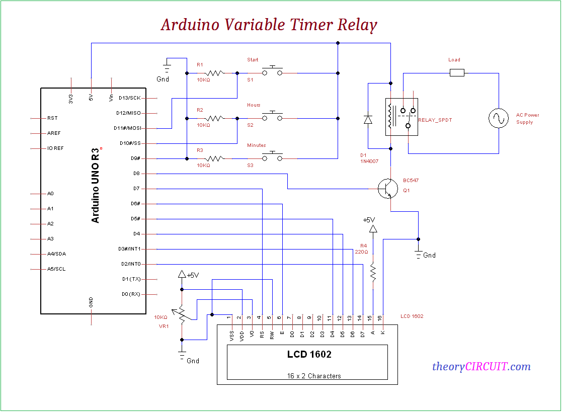 Arduino Variable Timer Relay Two Pole Double Throw Wiring Diagram Connection