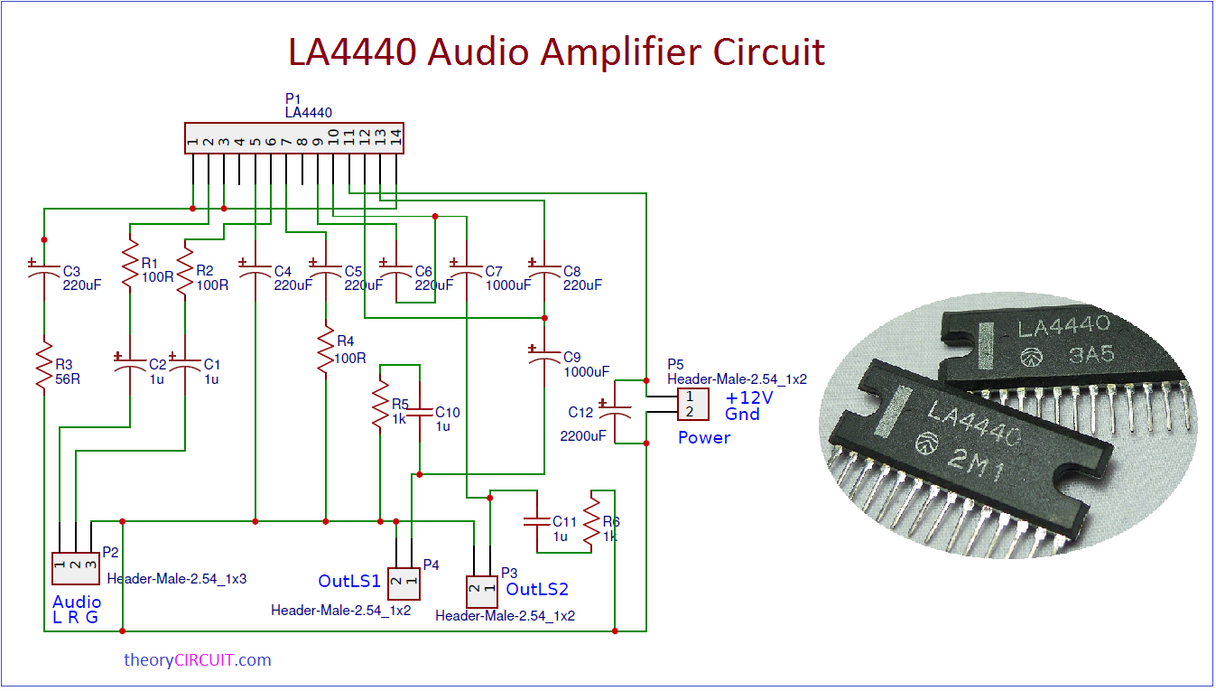 Wiring Diagram Amp Data Sheet Library Fi Ipod Amplifier Circuit Using Ic 741 Electronic Projects La4440