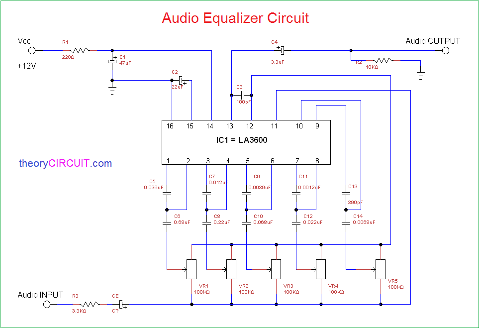 audio equalizer circuit rh theorycircuit com graphic equalizer concept circuit diagram and operation graphic equalizer concept circuit diagram and operation