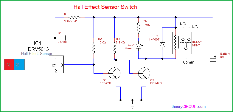 basic wire diagrams multipurpose hall effect sensor circuit  multipurpose hall effect sensor circuit