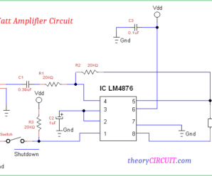 1 Watt Amplifier Circuit