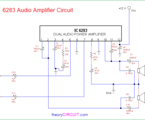 6283 Audio Amplifier Circuit