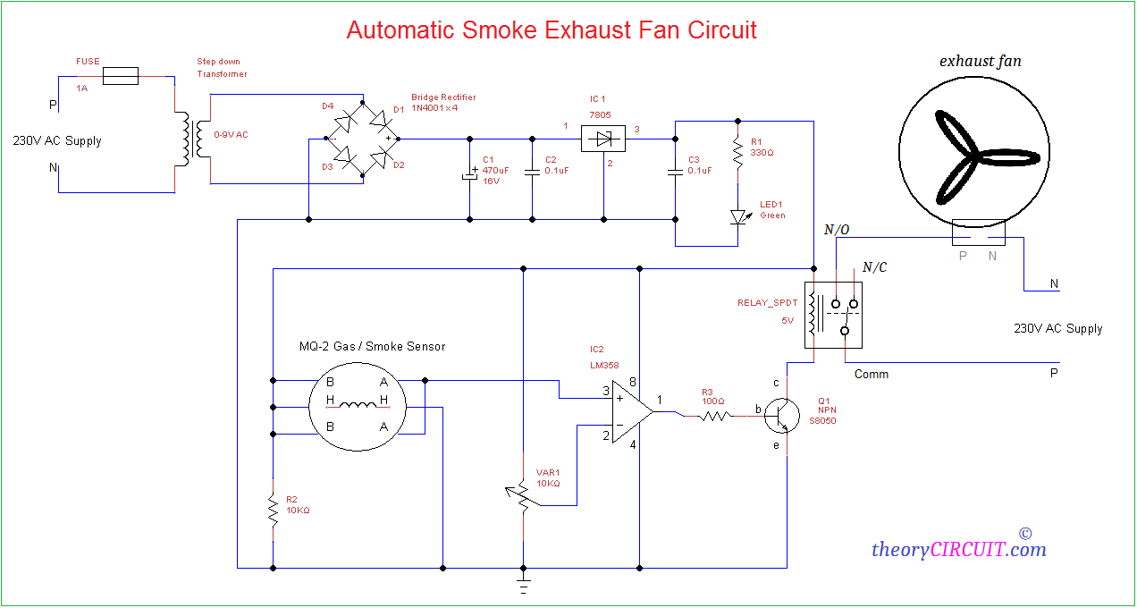 Automatic Smoke Exhaust Fan Circuit Spdt Switch Wiring Diagram