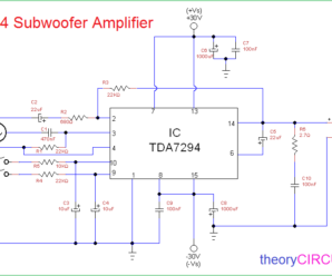 tda7294 subwoofer amplifier circuit 298x248 high power subwoofer amplifier circuit diagram archives
