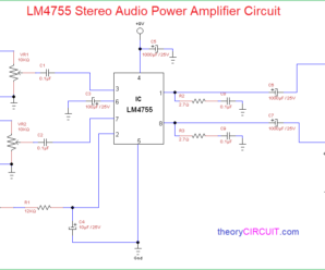 LM4755 Stereo Audio Power Amplifier Circuit