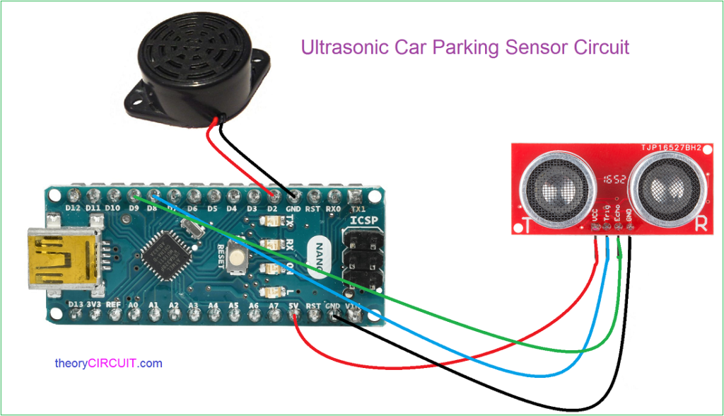 Car Reverse Parking Sensor Circuit