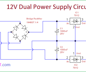 Volt Dual Power Supply Circuit X on 12 volt voltage regulator 7812