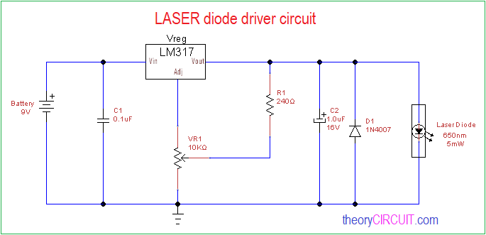 laser diode driver circuit  diode schematic diagram #13