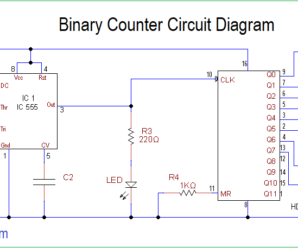 Binary Counter Circuit Diagram