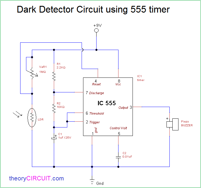 Ldr Circuit Diagram Using 555 - Wiring Diagram Img