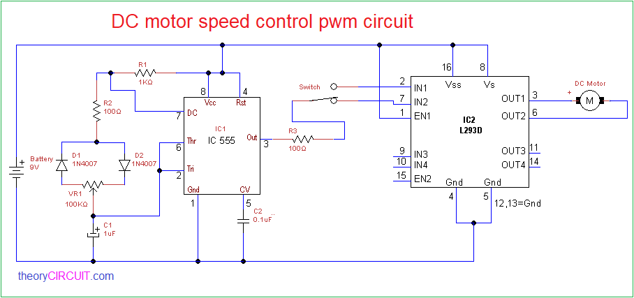 DC Motor Sd Control PWM circuit on