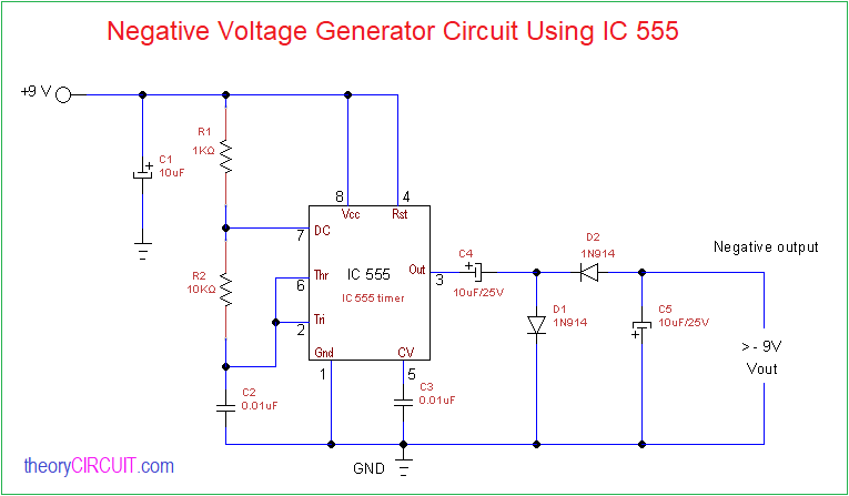 negative voltage generator circuit cuk converter negative converter with variable output