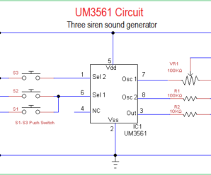 Three Siren Sound Generator Circuit Using UM3561
