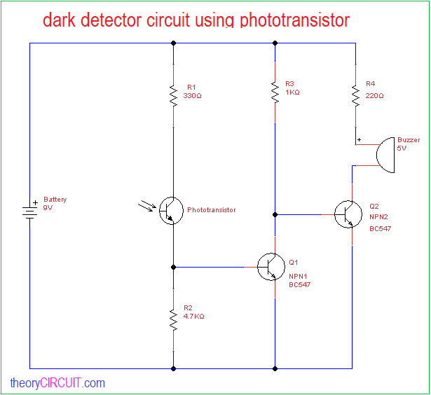 By The Photosensitive Resistor Of This Circuit Is A Circuit Diagram Of