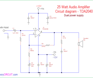 25 Watt Audio Power Amplifier Circuit