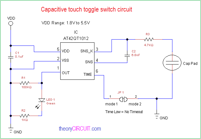 Fantastic Capacitive Touch Toggle Switch Circuit Wiring Cloud Venetbieswglorg