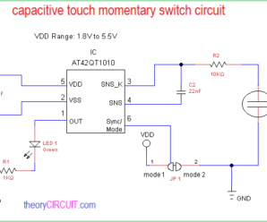 Capacitive Touch Momentary Switch Circuit