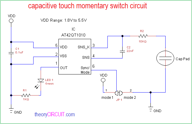 Diagram Capacitive Touch Momentary Switch Circuit U2013 Circuit Wiring