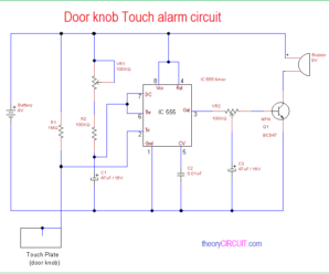 Door Knob Touch Alarm Circuit