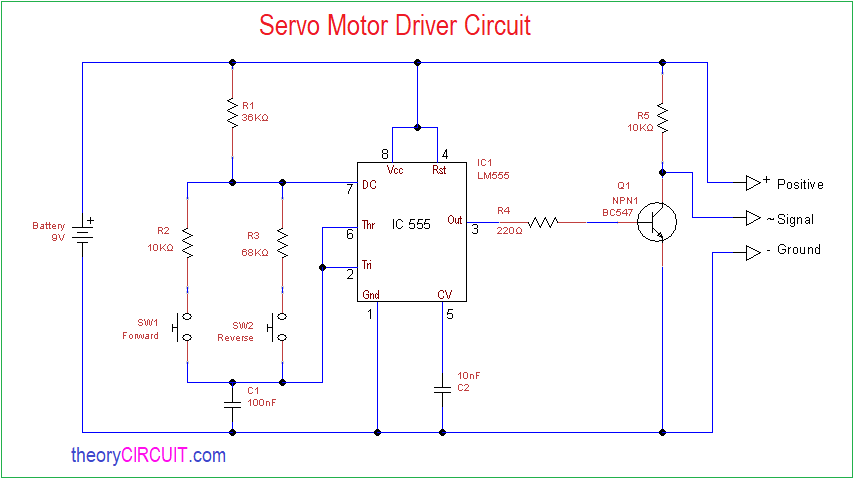 circuit diagram  construction & working  every servo motors