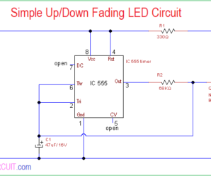 Simple Up/Down Fading LED Circuit