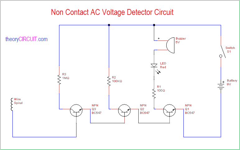 mains voltage detector circuit diagram wiring diagram data valnon contact ac voltage detector circuit ac voltage detector circuit diagram mains voltage detector circuit diagram