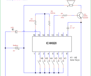 Sound Generator Circuit Using IC HK620
