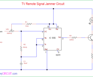 TV Remote Signal Jammer Circuit