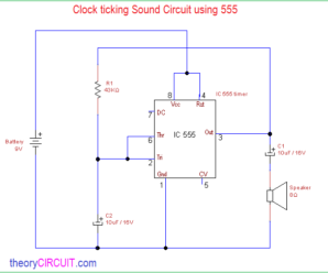Clock Ticking Sound Circuit using 555