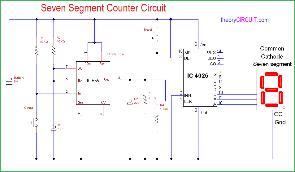 Electronic Circuit Schematics Other 7segment Display Counter