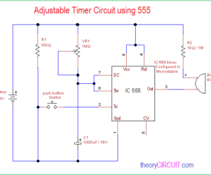 Adjustable Timer Circuit using 555