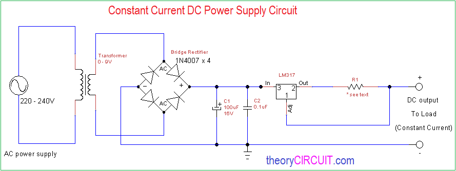 Constant Current Dc Power Supply Circuit