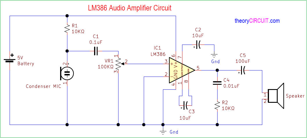 Lm386 audio amplifier circuit pdf creator