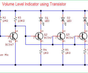Volume Level Indicator Using Transistor