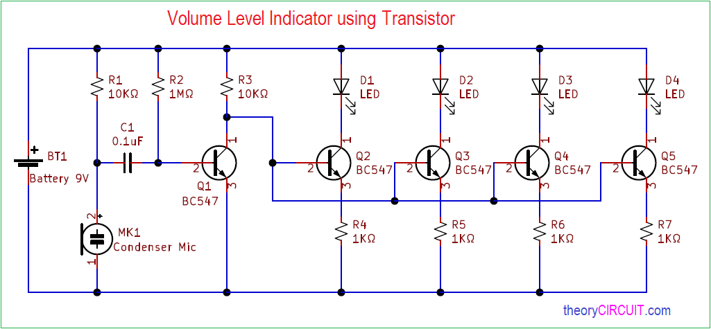 Volume Level Indicator Using Transistor on generator schematic, compressor schematic, ph meter schematic, oscilloscope schematic, tone control schematic, transistor tester schematic, mixer schematic, multimeter schematic, voltmeter schematic, sensor schematic, lc meter schematic, capacitance meter schematic, amplifier schematic, analog meter schematic, lcd schematic, distortion schematic, lm3915 schematic, variac schematic, led schematic, current transformer schematic,
