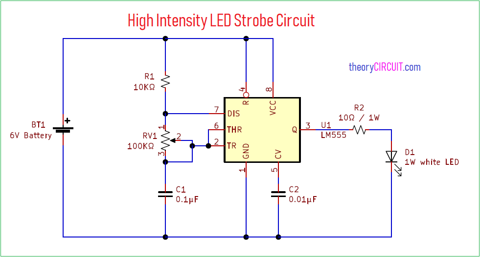 high intensity led strobe circuit ecco led strobe light wiring diagram led strobe wiring diagram #3