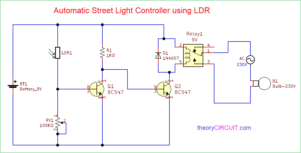 Automatic Street Light Controller Using Ldr