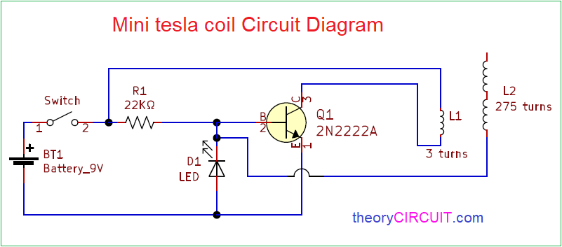 Mini Tesla Coil Circuit