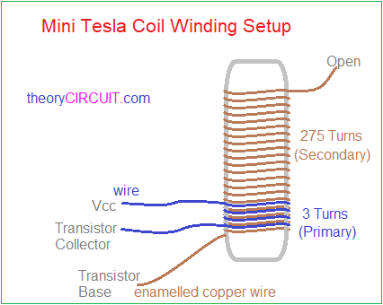 mini tesla coil circuit  6 volt coil wiring diagram for tesla #11