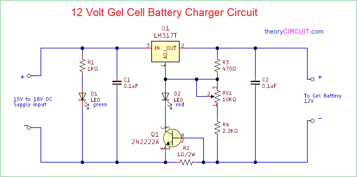 Circuit Diagram 12 Volt Dc Battery Charger - Wiring Diagram Structure