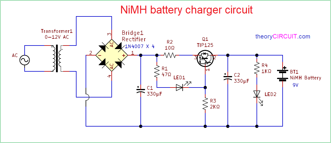 Nimh Battery Charger Circuit