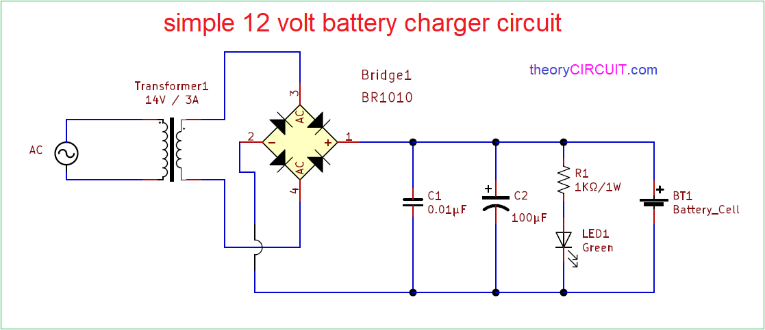 simple 12 volt battery charger circuit diagram inverter charger wiring diagram general battery charger wiring diagram #2