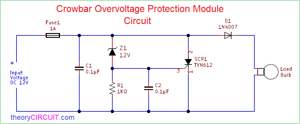 Crowbar Overvoltage Protection Module